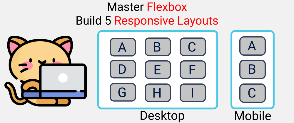 Cover image for Master CSS Flexbox 2021  🔥- Build 5 Responsive Layouts🎖️|| CSS 2021
