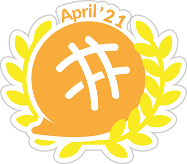 Writer of the Month Award April '21 badge