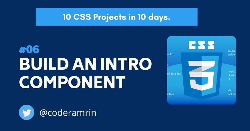 Cover image for Build 10 CSS Projects in 10 days: Project 6