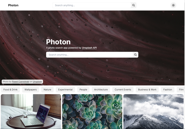 Cover image for Photo search app in Next JS