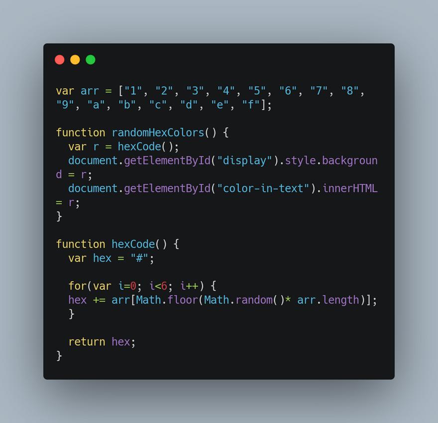 JavaScript Code: 1st-version