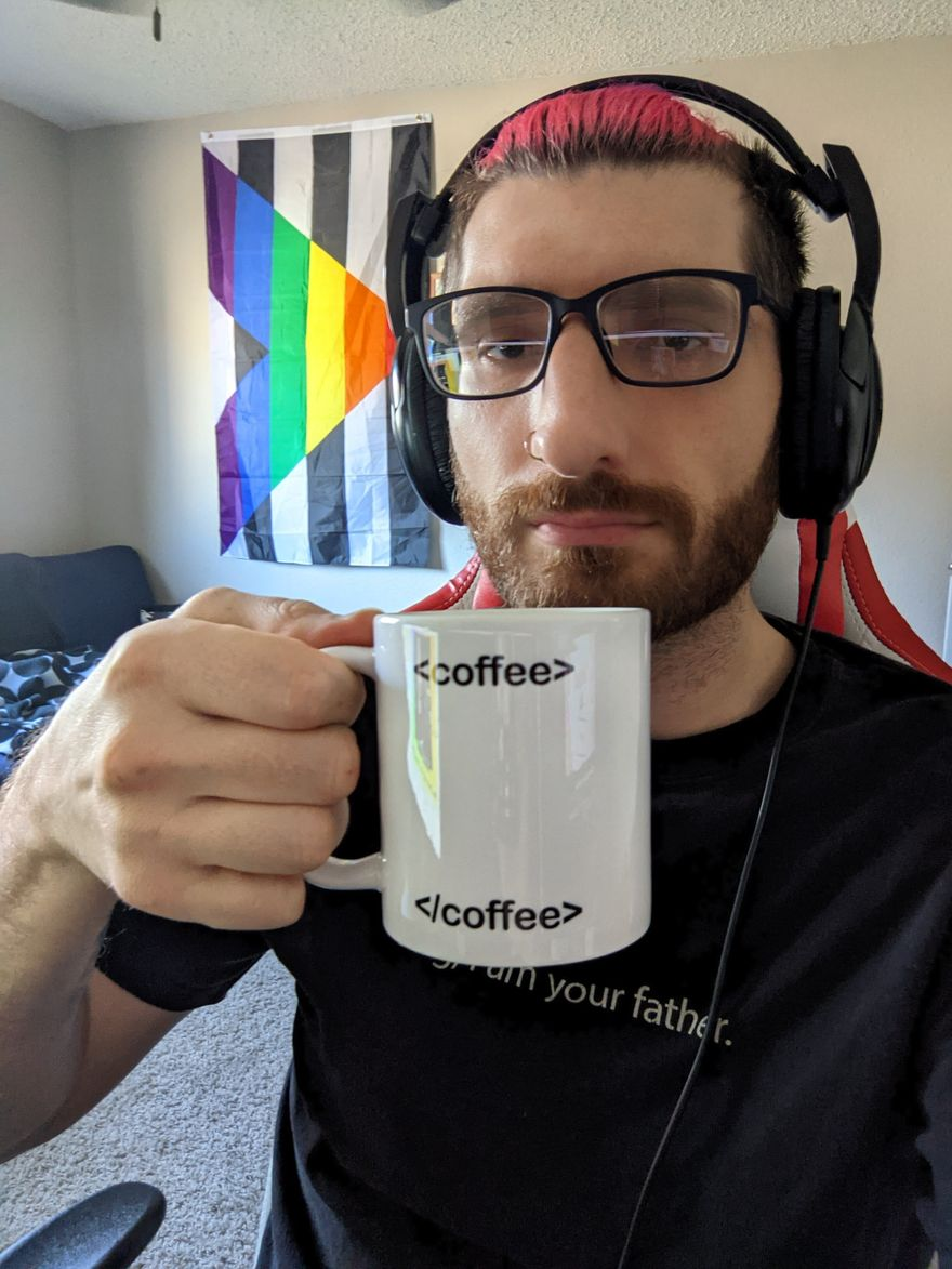 Me with my favorite mug