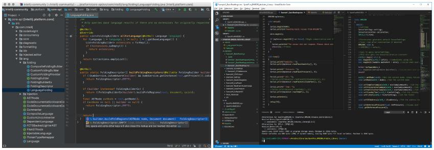 Intellij vs Visual Studio