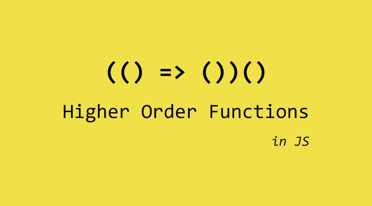 Cover image for High order functions