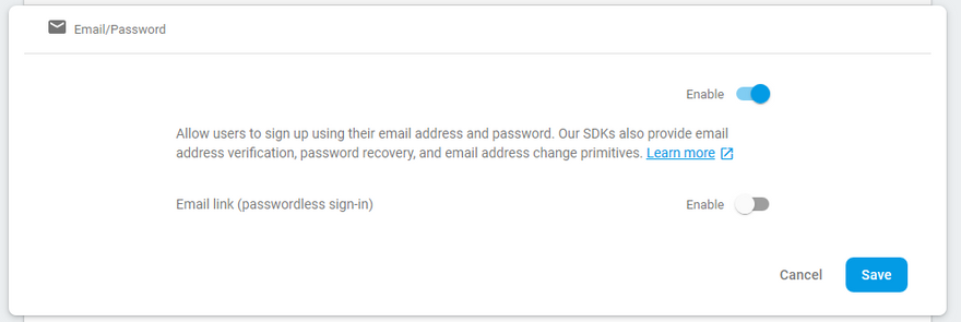 """""""Setup Email Address Config within Authentication page."""""""