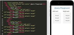 jQuery playground with targets inside each of the buttons inside the wells