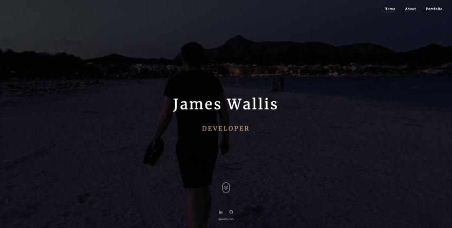 The old wallis.dev home page