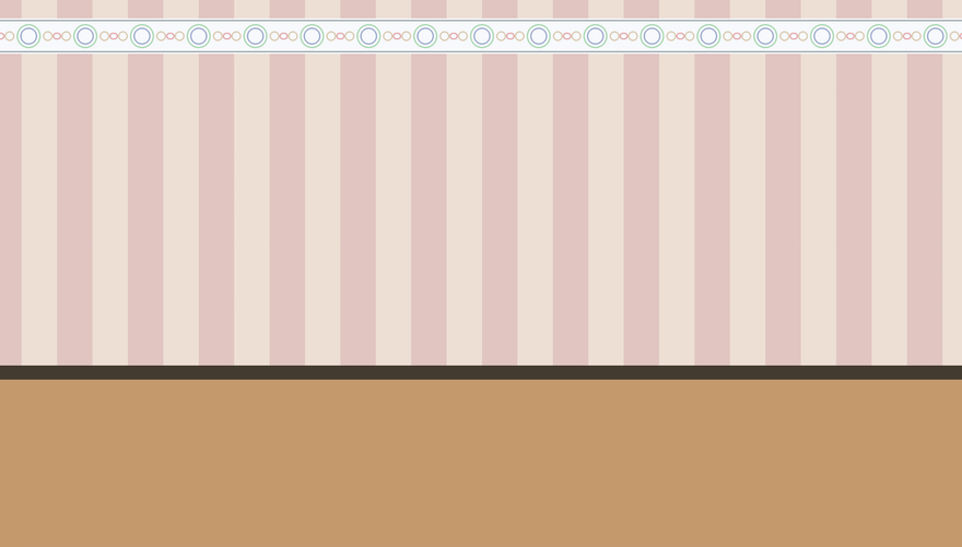 Screenshot of the background mimicking a 50s style house interior with wallpaper
