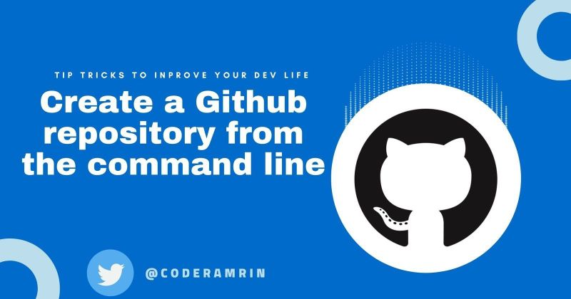 Cover image for How to create a Github repository from the command line?