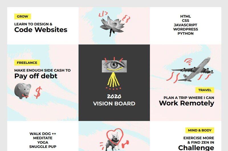 Vision board design comp