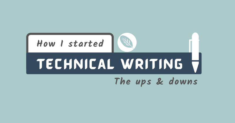 Cover image for How I started Technical Writing