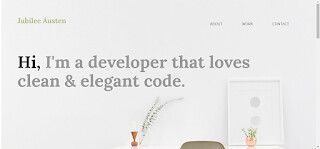 Jubilee Austen Hi I'm a developer that loves clean & elegant code.